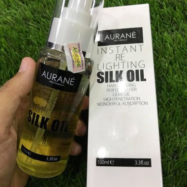 Serum tinh dầu bóng tóc Olive Instant Re Lighting Silk Oil Aurane 100ml